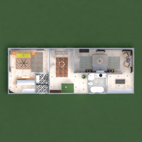 floorplans haus mobiliar dekor schlafzimmer garage küche beleuchtung esszimmer architektur lagerraum, abstellraum eingang 3d