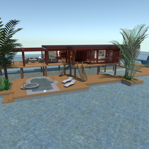 планировки дом терраса ванная спальня гостиная 3d