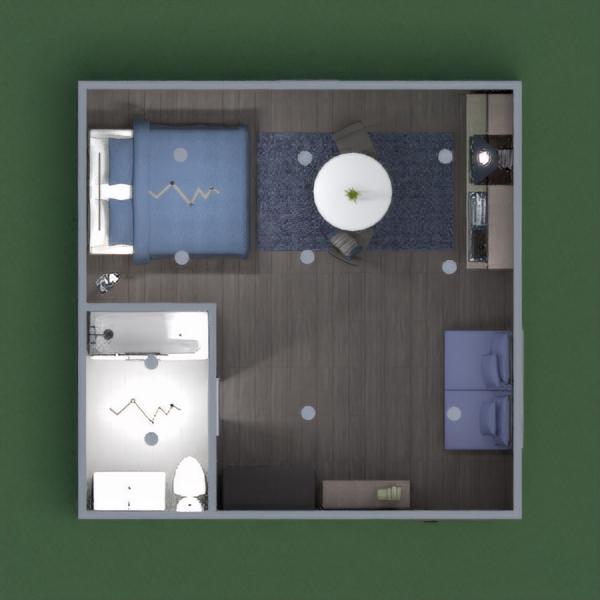 планировки квартира декор спальня кухня студия 3d