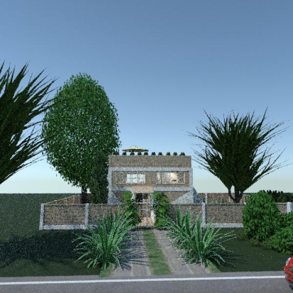 планировки дом терраса мебель 3d