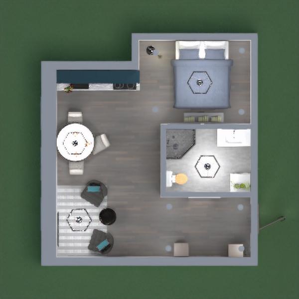 planos salón comedor trastero estudio descansillo 3d