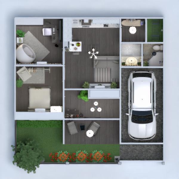 floorplans namas vonia garažas virtuvė studija 3d