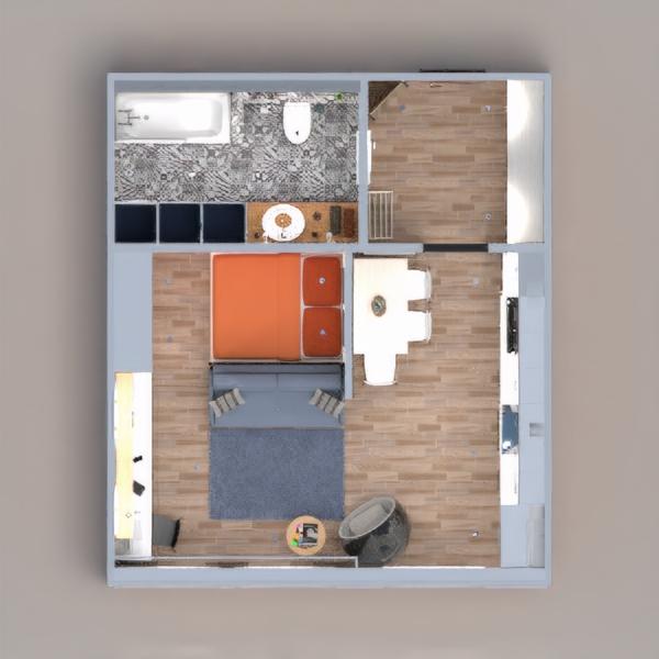 floorplans wohnung mobiliar dekor do-it-yourself badezimmer küche lagerraum, abstellraum 3d