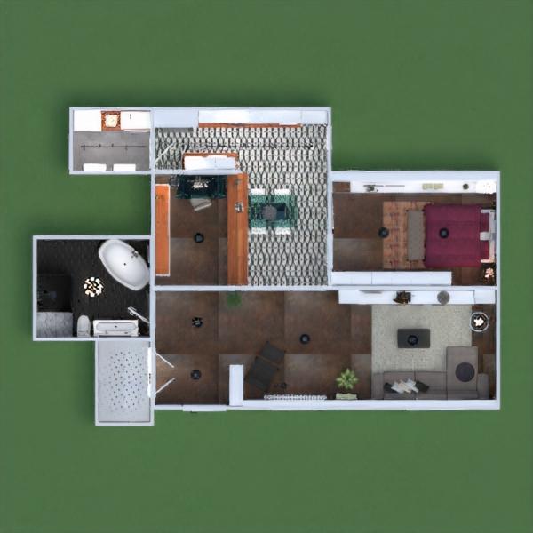 floorplans wohnung terrasse dekor schlafzimmer küche büro beleuchtung café esszimmer architektur lagerraum, abstellraum studio eingang 3d