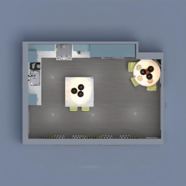 floorplans cozinha iluminação sala de jantar 3d