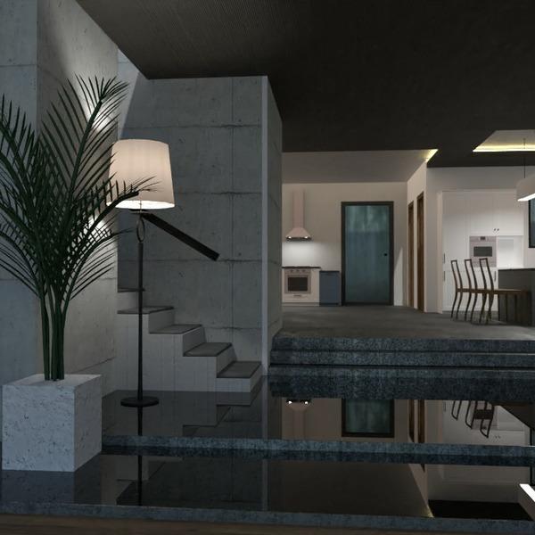 floorplans house living room kitchen lighting 3d