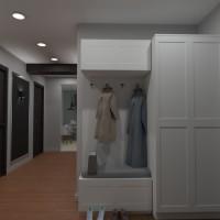 planos apartamento casa iluminación descansillo 3d