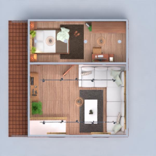 floorplans house bedroom living room lighting 3d