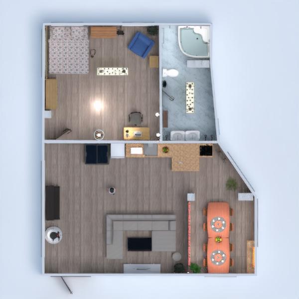 floorplans banheiro quarto quarto sala de jantar 3d
