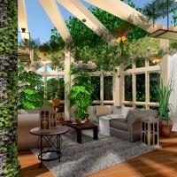 планировки терраса мебель декор освещение архитектура 3d