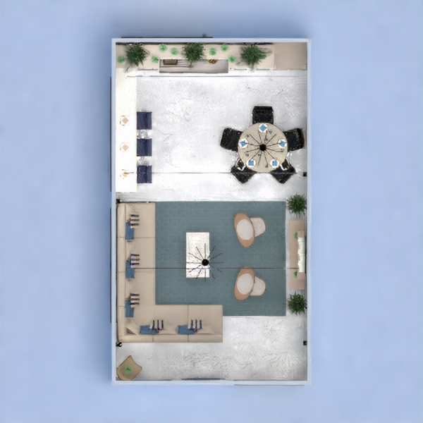 floorplans apartment decor living room kitchen dining room 3d