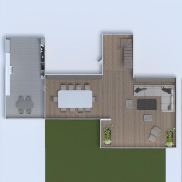 planos apartamento decoración salón cocina arquitectura 3d
