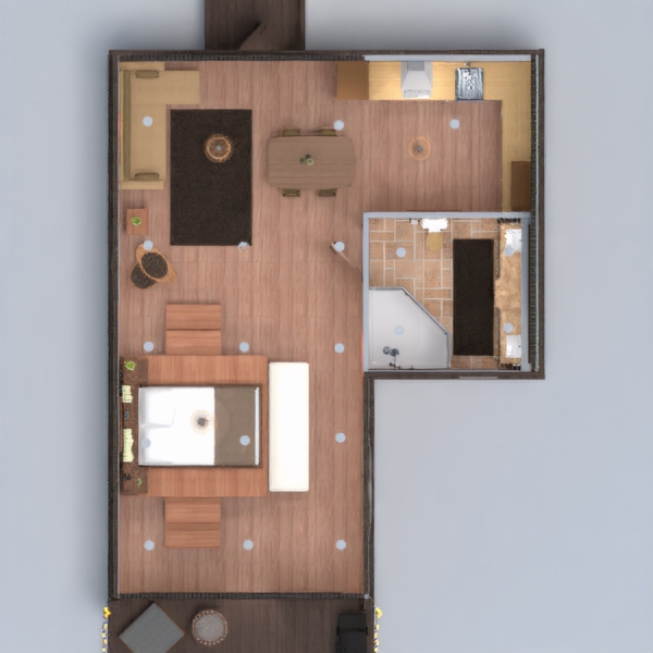 floorplans house terrace bathroom bedroom kitchen 3d