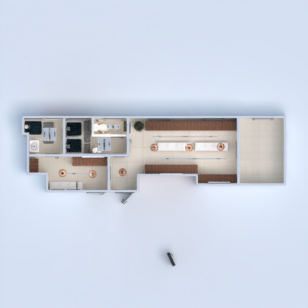 floorplans mobiliar badezimmer büro studio 3d