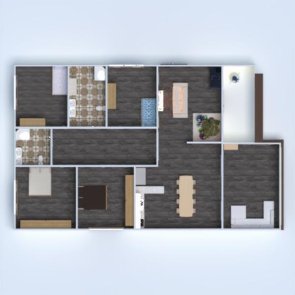 floorplans casa varanda inferior mobílias decoração faça você mesmo banheiro quarto quarto garagem cozinha área externa quarto infantil iluminação paisagismo utensílios domésticos sala de jantar arquitetura 3d