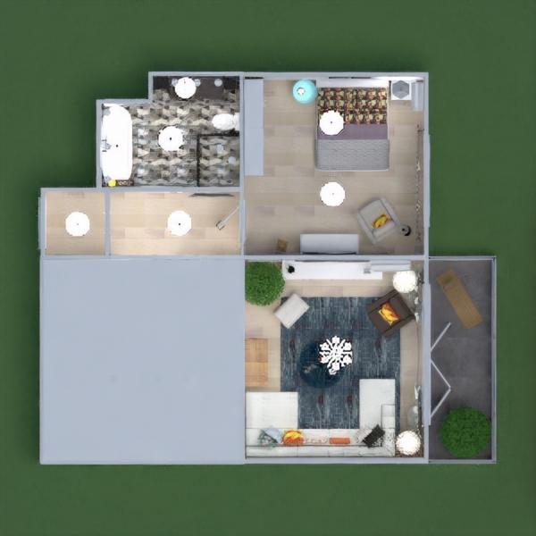 floorplans wohnung mobiliar dekor badezimmer schlafzimmer wohnzimmer küche beleuchtung haushalt café esszimmer architektur lagerraum, abstellraum eingang 3d