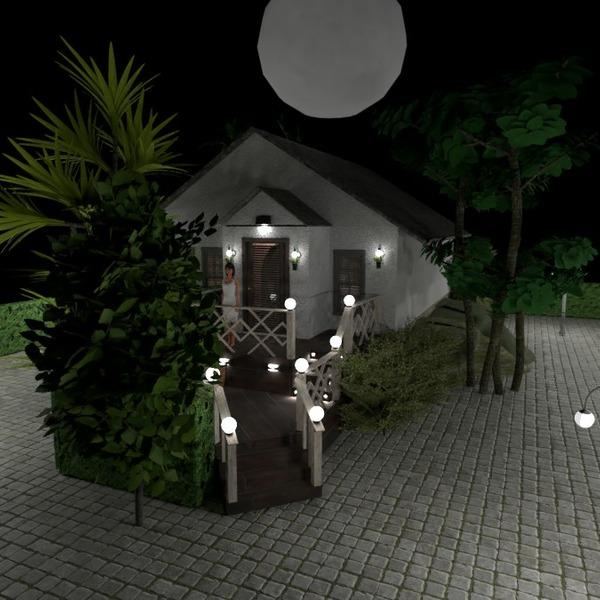 floorplans casa mobílias área externa iluminação 3d