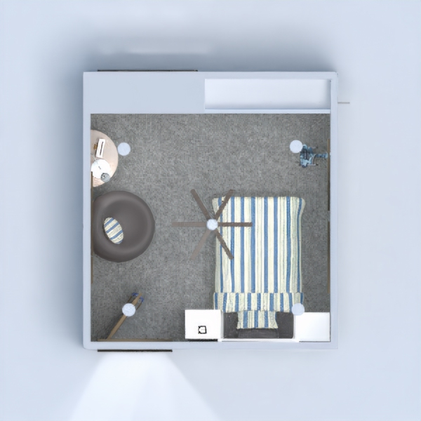 progetti appartamento casa camera da letto cameretta ripostiglio 3d