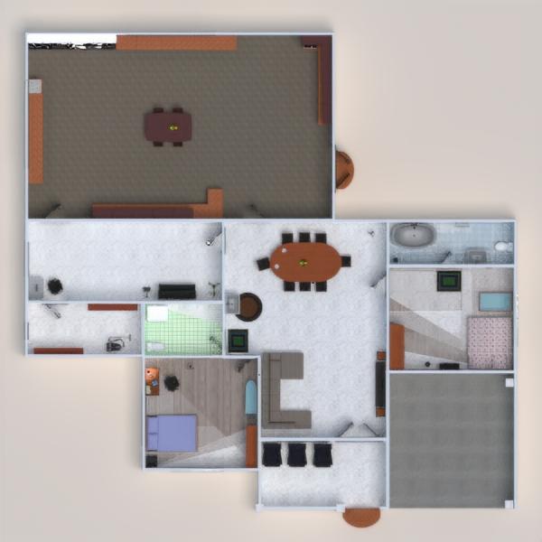 floorplans namas dekoras pasidaryk pats vonia miegamasis svetainė garažas virtuvė vaikų kambarys valgomasis sandėliukas 3d