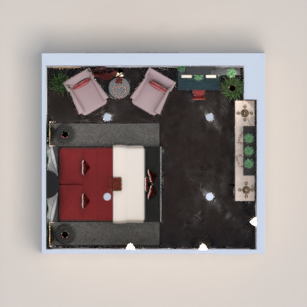 планировки мебель декор спальня гостиная освещение 3d