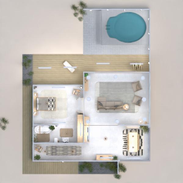 floorplans casa varanda inferior área externa iluminação arquitetura 3d