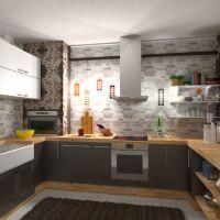 floorplans dom meble kuchnia jadalnia 3d