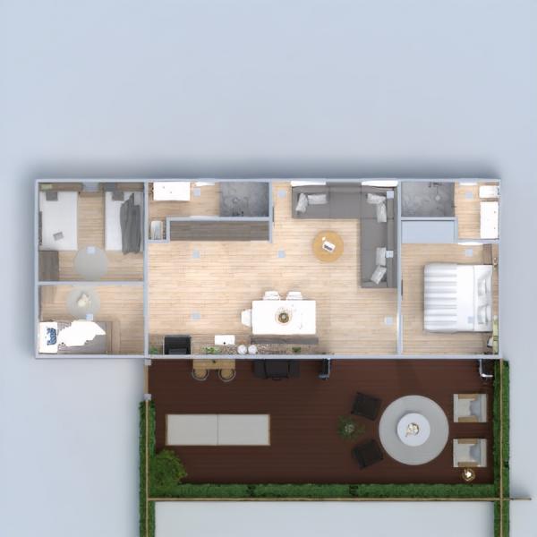 floorplans 独栋别墅 diy 卧室 客厅 厨房 3d