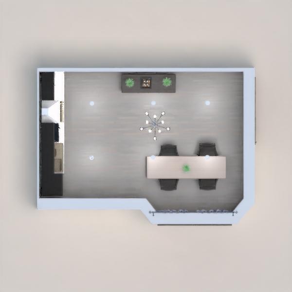 floorplans apartamento casa decoração cozinha sala de jantar 3d