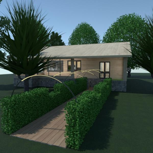 планировки дом ванная спальня гостиная кухня 3d