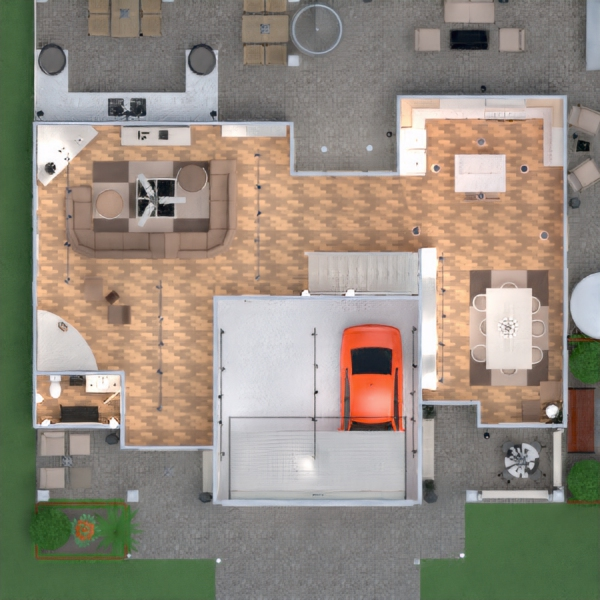 floorplans namas terasa baldai dekoras vonia miegamasis svetainė garažas virtuvė eksterjeras apšvietimas kraštovaizdis namų apyvoka valgomasis аrchitektūra prieškambaris 3d