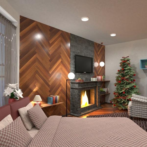 planos apartamento muebles decoración dormitorio iluminación 3d