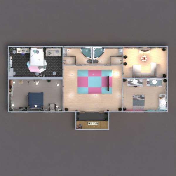 floorplans vonia miegamasis svetainė garažas namų apyvoka 3d