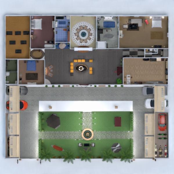 планировки дом терраса ванная архитектура 3d