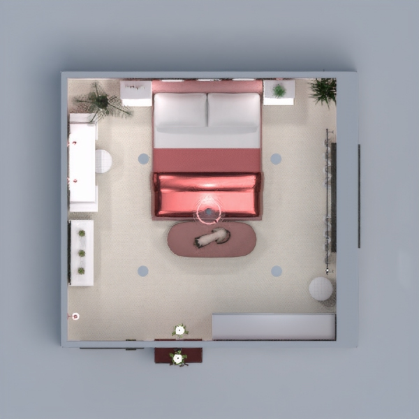 floorplans wystrój wnętrz sypialnia oświetlenie 3d