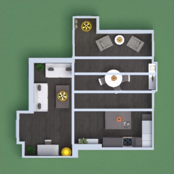 floorplans mieszkanie pokój dzienny kuchnia oświetlenie jadalnia 3d