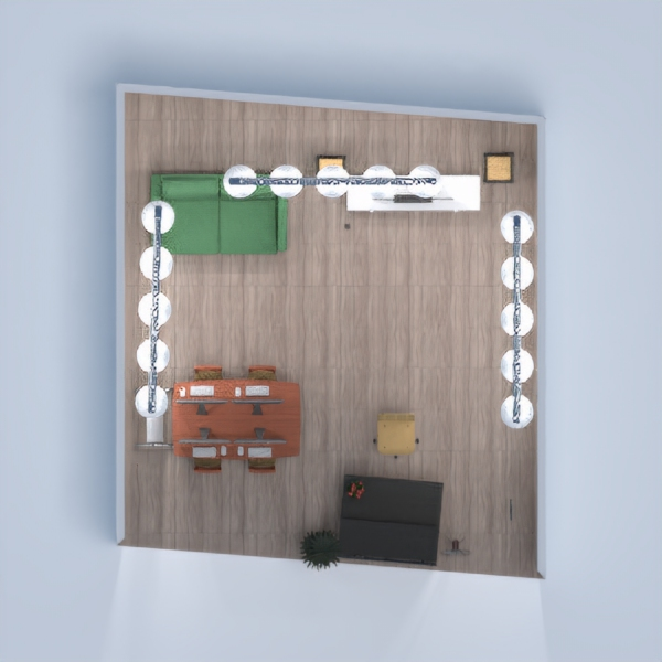 planos muebles decoración despacho iluminación arquitectura 3d