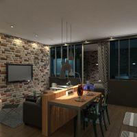floorplans 公寓 装饰 diy 结构 单间公寓 3d