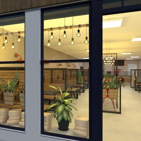 floorplans meble oświetlenie remont kawiarnia przechowywanie 3d