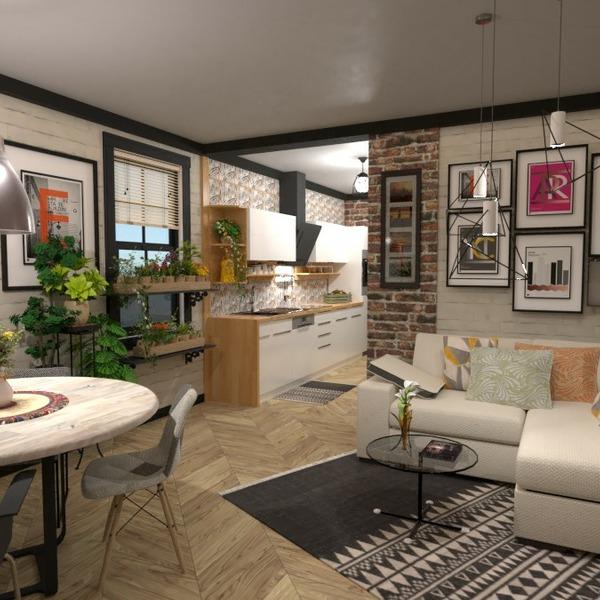 планировки квартира мебель декор освещение 3d