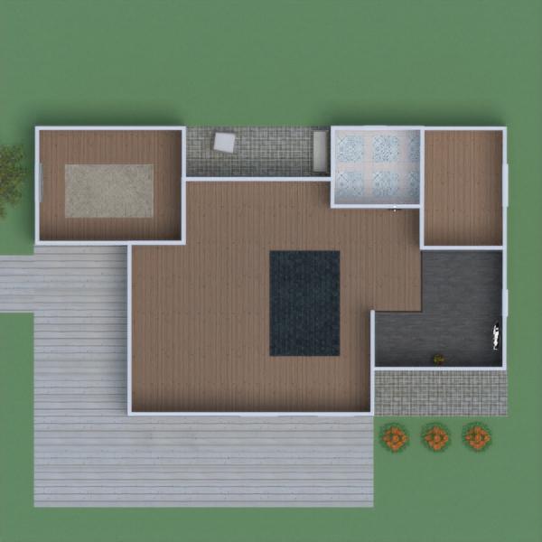 floorplans house terrace outdoor 3d