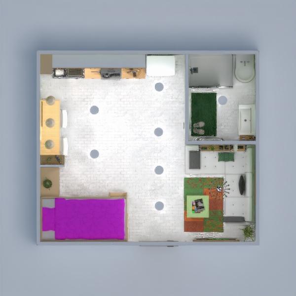 планировки квартира декор спальня гостиная кухня 3d