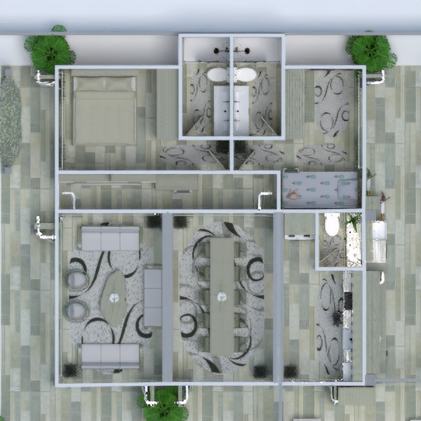 progetti arredamento oggetti esterni cameretta studio architettura 3d