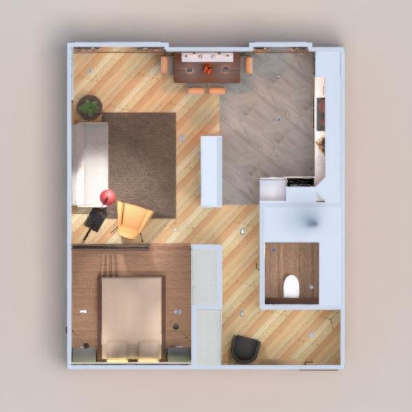 floorplans wohnung badezimmer wohnzimmer küche lagerraum, abstellraum 3d