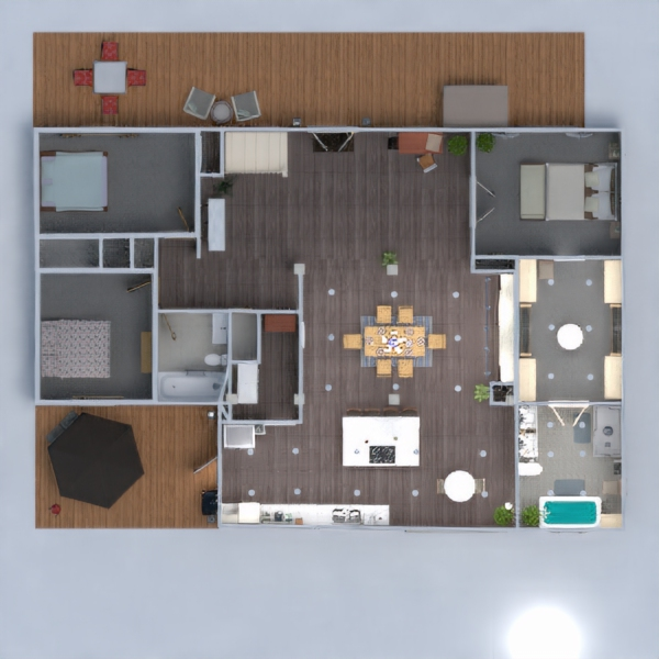 floorplans house living room kitchen renovation dining room 3d