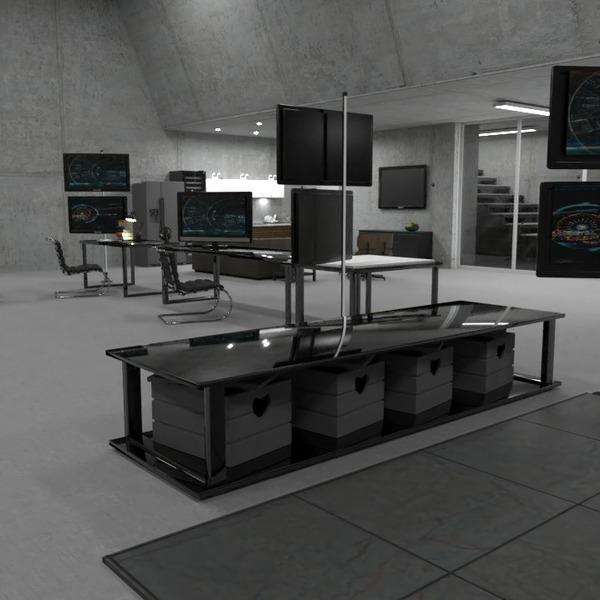 floorplans baldai garažas apšvietimas 3d