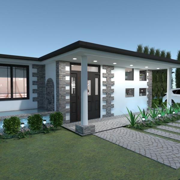 floorplans butas namas miegamasis svetainė virtuvė 3d