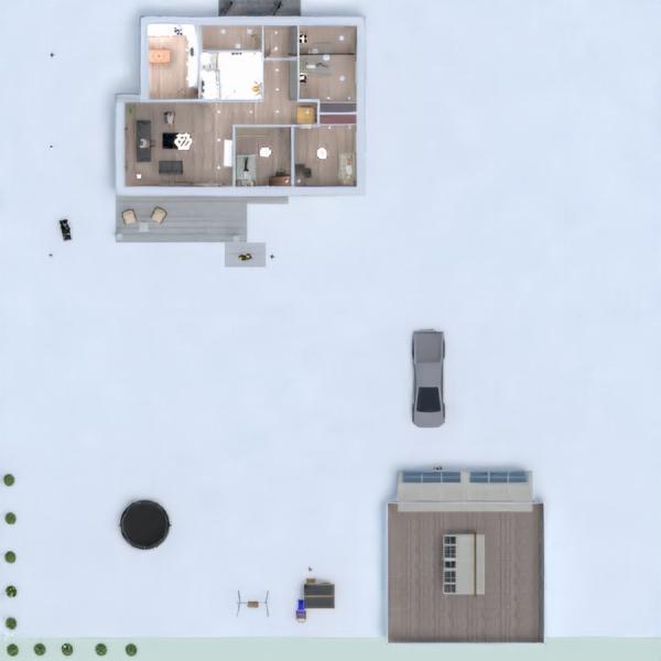 progetti casa veranda garage 3d