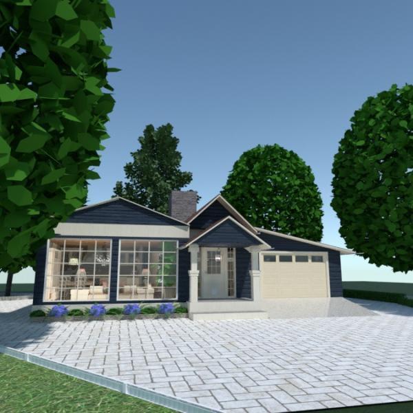 floorplans casa cozinha área externa reforma 3d