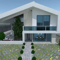 floorplans casa varanda inferior mobílias banheiro quarto quarto garagem cozinha área externa iluminação arquitetura 3d
