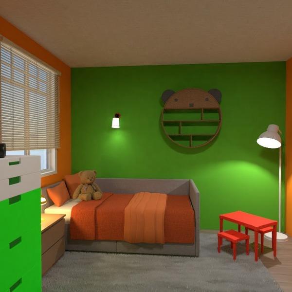 floorplans mobílias decoração quarto quarto infantil iluminação 3d